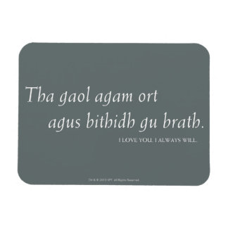 Outlander | I love you. I always will. Rectangular Photo Magnet