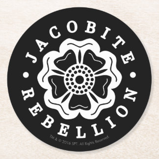 Outlander | Jacobite Rebellion Emblem Round Paper Coaster