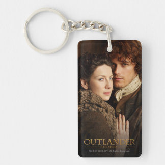 Outlander | Jamie & Claire Embrace Photograph Double-Sided Rectangular Acrylic Key Ring