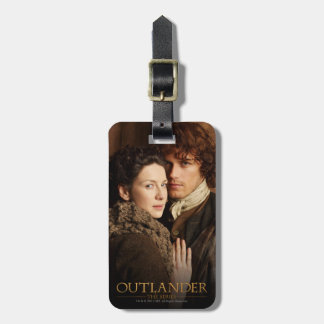 Outlander | Jamie & Claire Embrace Photograph Luggage Tag