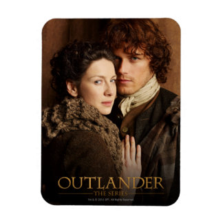 Outlander | Jamie & Claire Embrace Photograph Rectangular Photo Magnet