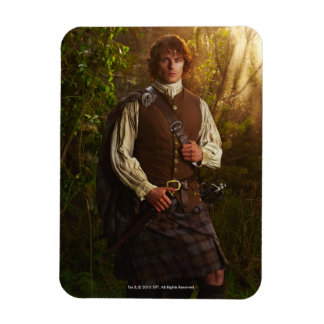 Outlander | Jamie Fraser - In Woods Rectangular Photo Magnet