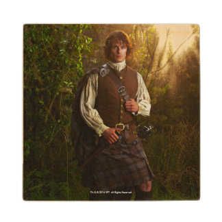 Outlander | Jamie Fraser - In Woods Wood Coaster