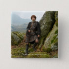 Outlander | Jamie Fraser - Leaning On Rock 15 Cm Square Badge
