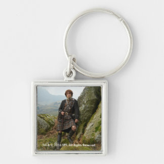 Outlander | Jamie Fraser - Leaning On Rock Key Ring