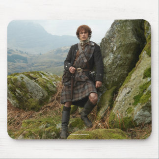 Outlander | Jamie Fraser - Leaning On Rock Mouse Mat