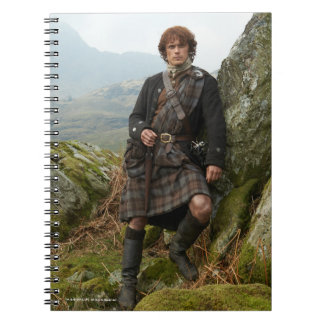 Outlander | Jamie Fraser - Leaning On Rock Notebooks