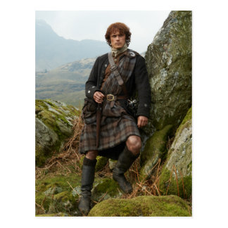 Outlander | Jamie Fraser - Leaning On Rock Postcard