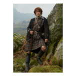 Outlander | Jamie Fraser - Leaning On Rock Poster