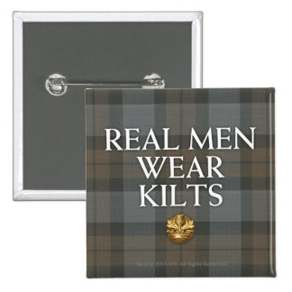 Outlander | Real Men Wear Kilts 15 Cm Square Badge