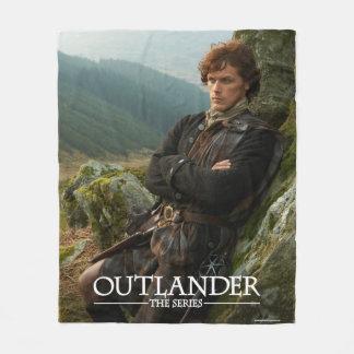 Outlander | Reclining Jamie Fraser Photograph Fleece Blanket