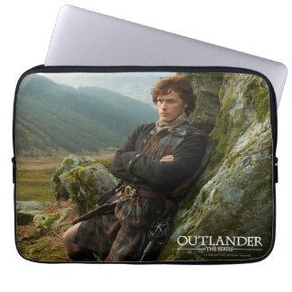 Outlander | Reclining Jamie Fraser Photograph Laptop Sleeve