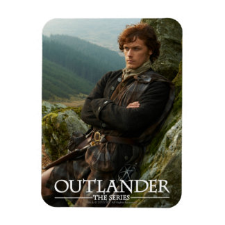 Outlander | Reclining Jamie Fraser Photograph Rectangular Photo Magnet