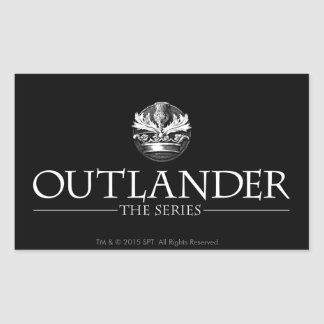 Outlander | The Series Logo White V1 Rectangular Sticker