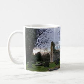 Outlander's Black Kirk: Film Location Church Ruins Basic White Mug