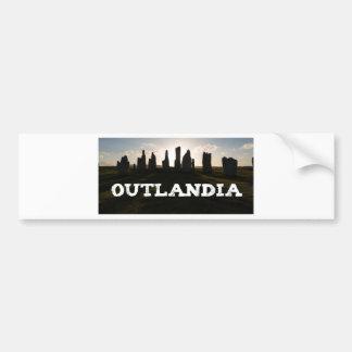 Outlandia Standing Stones Car Bumper Sticker