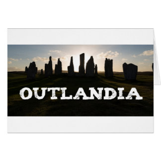 Outlandia Standing Stones Greeting Card