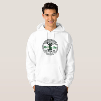Outlandia - Tree - Hoodie with Green Letters