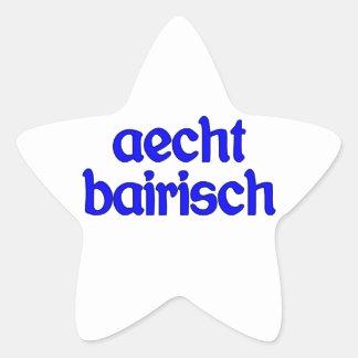 outlaw bairisch genuinly Bavarian Star Sticker