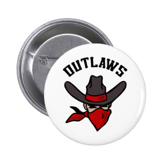 OUTLAW BANDITS 6 CM ROUND BADGE