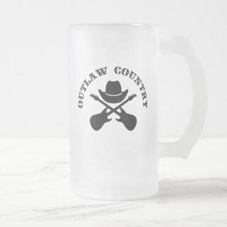 Outlaw Country Beer Mug