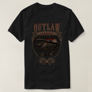 Outlaw Country Music. Armadillo with guitar T-Shirt
