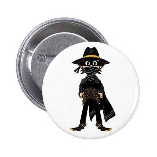 Outlaw Cowboy Badge Pinback Button