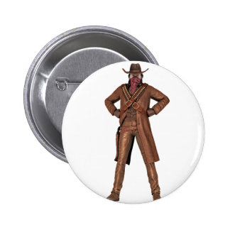 Outlaw of the West 6 Cm Round Badge