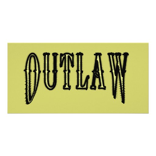 Outlaw Picture Card
