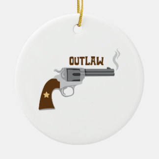Outlaw Pistol Christmas Ornament