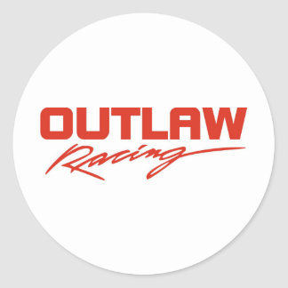 Outlaw Racing Classic Round Sticker