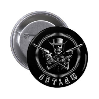 Outlaw Skeleton Buttons
