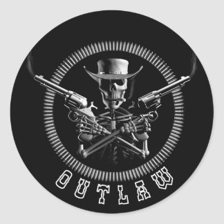 Outlaw Skeleton Stickers