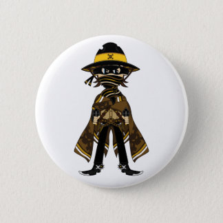 Outlaw Skull Cowboy Badge