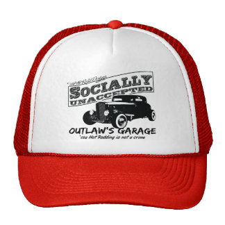 Outlaw's Garage. Socially unaccepted Hot Rods Hat