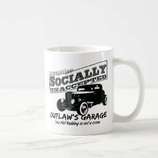 Outlaw's Garage. Socially unaccepted Hot Rods Coffee Mugs