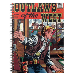 Outlaws of the West Vintage Cover Spiral Notebooks