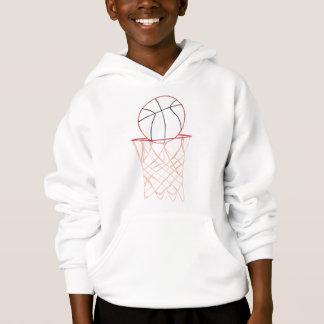 Outline art - basketball and hoop drawing, shirts