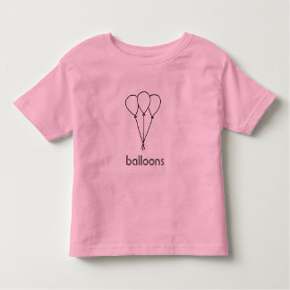 Outline art drawing - balloons coloring shirts