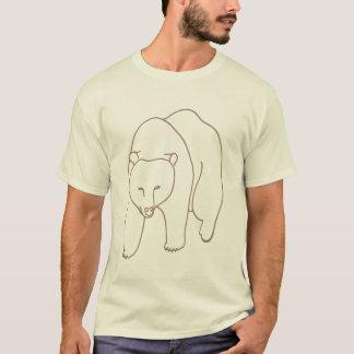 Outline Art - Drawing of a Bear walking, shirt