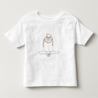 Outline art drawing - Owl - Coloring Shirts