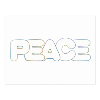 Outline Art - Peace - word in colors, postcard