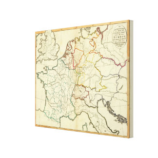 Outline Europe Canvas Print
