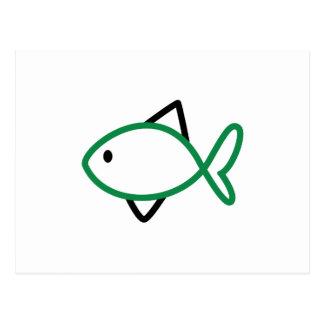 Outline Fish Postcard
