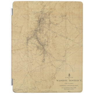 Outline Map of Washoe District, Nevada iPad Cover