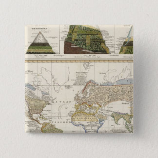 Outline of plant geography 15 cm square badge