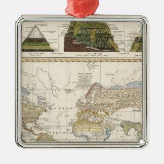 Outline of plant geography christmas ornament
