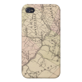 Outline plan of Washington County in Vermont iPhone 4 Covers