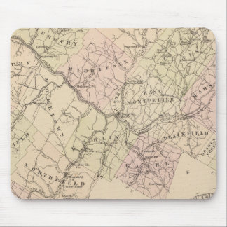 Outline plan of Washington County in Vermont Mouse Mat