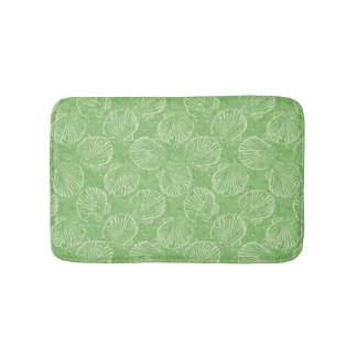 Outline seashells bath mat